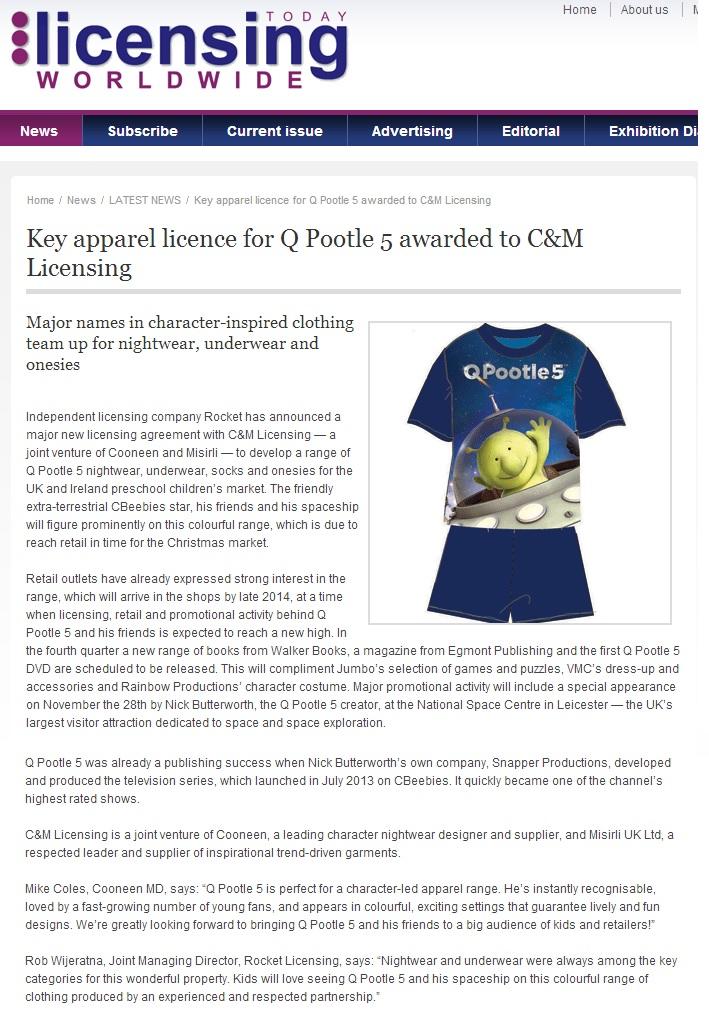 licensing worldwide QP5 C&M